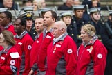 Remembrance Sunday at the Cenotaph 2015: Group M16, British Red Cross. Cenotaph, Whitehall, London SW1, London, Greater London, United Kingdom, on 08 November 2015 at 12:16, image #1515
