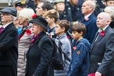 Remembrance Sunday at the Cenotaph 2015: Group M23, Civilians Representing Families. Cenotaph, Whitehall, London SW1, London, Greater London, United Kingdom, on 08 November 2015 at 12:17, image #1561