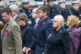 Remembrance Sunday at the Cenotaph 2015: Group M23, Civilians Representing Families. Cenotaph, Whitehall, London SW1, London, Greater London, United Kingdom, on 08 November 2015 at 12:17, image #1565
