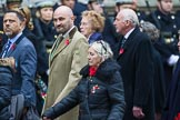 Remembrance Sunday at the Cenotaph 2015: Group M23, Civilians Representing Families. Cenotaph, Whitehall, London SW1, London, Greater London, United Kingdom, on 08 November 2015 at 12:17, image #1571