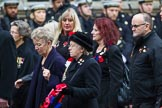 Remembrance Sunday at the Cenotaph 2015: Group M23, Civilians Representing Families. Cenotaph, Whitehall, London SW1, London, Greater London, United Kingdom, on 08 November 2015 at 12:17, image #1573