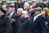 Remembrance Sunday at the Cenotaph 2015: Group M23, Civilians Representing Families. Cenotaph, Whitehall, London SW1, London, Greater London, United Kingdom, on 08 November 2015 at 12:17, image #1583