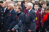 Remembrance Sunday at the Cenotaph 2015: Group M28, HM Ships Glorious Ardent & ACASTA Association. Cenotaph, Whitehall, London SW1, London, Greater London, United Kingdom, on 08 November 2015 at 12:18, image #1616