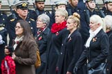 Remembrance Sunday at the Cenotaph 2015: Group M35, TRBL Women's Section. Cenotaph, Whitehall, London SW1, London, Greater London, United Kingdom, on 08 November 2015 at 12:18, image #1644