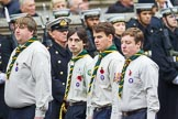 Remembrance Sunday at the Cenotaph 2015: Group M50, Scout Association. Cenotaph, Whitehall, London SW1, London, Greater London, United Kingdom, on 08 November 2015 at 12:21, image #1728