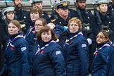 Remembrance Sunday at the Cenotaph 2015: Group M51, Girlguiding London & South East England. Cenotaph, Whitehall, London SW1, London, Greater London, United Kingdom, on 08 November 2015 at 12:21, image #1734