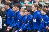 Remembrance Sunday at the Cenotaph 2015: Group M52, Boys Brigade. Cenotaph, Whitehall, London SW1, London, Greater London, United Kingdom, on 08 November 2015 at 12:21, image #1736