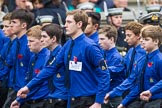 Remembrance Sunday at the Cenotaph 2015: Group M52, Boys Brigade. Cenotaph, Whitehall, London SW1, London, Greater London, United Kingdom, on 08 November 2015 at 12:21, image #1737