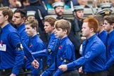 Remembrance Sunday at the Cenotaph 2015: Group M52, Boys Brigade. Cenotaph, Whitehall, London SW1, London, Greater London, United Kingdom, on 08 November 2015 at 12:21, image #1738