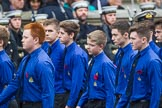 Remembrance Sunday at the Cenotaph 2015: Group M52, Boys Brigade. Cenotaph, Whitehall, London SW1, London, Greater London, United Kingdom, on 08 November 2015 at 12:21, image #1739