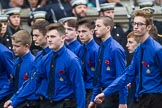 Remembrance Sunday at the Cenotaph 2015: Group M52, Boys Brigade. Cenotaph, Whitehall, London SW1, London, Greater London, United Kingdom, on 08 November 2015 at 12:21, image #1740