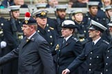 Remembrance Sunday at the Cenotaph 2015: If you know which group is shown here, please email cenotaph@haraldjoergens.com. Cenotaph, Whitehall, London SW1, London, Greater London, United Kingdom, on 08 November 2015 at 12:21, image #1757