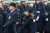 Remembrance Sunday at the Cenotaph 2015: If you know which group is shown here, please email cenotaph@haraldjoergens.com. Cenotaph, Whitehall, London SW1, London, Greater London, United Kingdom, on 08 November 2015 at 12:21, image #1764
