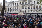 Remembrance Sunday at the Cenotaph 2015: The last group, M58, has marched past the Cenotaph. Cenotaph, Whitehall, London SW1, London, Greater London, United Kingdom, on 08 November 2015 at 12:22, image #1767