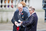 Remembrance Sunday at the Cenotaph 2015: Vice Admiral Peter Wilkinson, President of the Royal British Legion, during preparations for the event. Image #17, 08 November 2015 09:46 Whitehall, London, UK