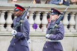 "Remembrance Sunday at the Cenotaph 2015: Two of the ""markers"" on their way to mark the position of their detachment. Image #22, 08 November 2015 10:08 Whitehall, London, UK"