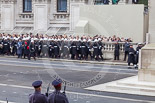 Remembrance Sunday at the Cenotaph 2015: The Royal Marines detachment arriving at Whitehall. There are 48  personnel on  parade from O Squadron,  43 Commando Fleet Protection Group. Image #30, 08 November 2015 10:18 Whitehall, London, UK