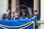 Remembrance Sunday at the Cenotaph 2015: Guests on one of the balconies of the Foreign- and Commonwealth Office Building. Image #33, 08 November 2015 10:19 Whitehall, London, UK