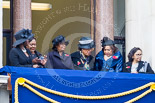Remembrance Sunday at the Cenotaph 2015: Guests on one of the balconies of the Foreign- and Commonwealth Office Building. Image #37, 08 November 2015 10:19 Whitehall, London, UK