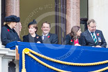 Remembrance Sunday at the Cenotaph 2015: Guests on one of the balconies of the Foreign- and Commonwealth Office Building. Image #38, 08 November 2015 10:19 Whitehall, London, UK