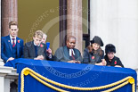 Remembrance Sunday at the Cenotaph 2015: Guests on one of the balconies of the Foreign- and Commonwealth Office Building. Image #39, 08 November 2015 10:19 Whitehall, London, UK