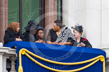 Remembrance Sunday at the Cenotaph 2015: Guests on one of the balconies of the Foreign- and Commonwealth Office Building. Image #40, 08 November 2015 10:19 Whitehall, London, UK