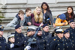 Remembrance Sunday at the Cenotaph 2015: Spectators on the Foreign Office side of Whitehall, behind the Royal Navy detachment. Image #42, 08 November 2015 10:20 Whitehall, London, UK