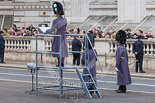 Remembrance Sunday at the Cenotaph 2015: The Senior Director of Music preparing for the event. Image #44, 08 November 2015 10:22 Whitehall, London, UK