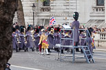 Remembrance Sunday at the Cenotaph 2015: The first two Massed Bands are getting into position. Image #45, 08 November 2015 10:24 Whitehall, London, UK