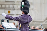 Remembrance Sunday at the Cenotaph 2015: The Senior Director of Music, Lieutenant Colonel Kevin Roberts, conducting during the Cenotaph Ceremony 2015. Image #61, 08 November 2015 10:36 Whitehall, London, UK