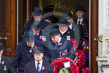Remembrance Sunday at the Cenotaph 2015: Leading members of the Royal British Legion, the Royal Air Force Association, the Royal Navy Association, the Royal Commonwealth Ex-Services League and Transport for London leaving the Foreign- and Commonwealth Office. Image #64, 08 November 2015 10:40 Whitehall, London, UK