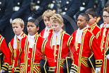 Remembrance Sunday at the Cenotaph 2015: The 10 Children of the Chapel Royal on their way from the Foreign- and Commonwealth Office building onto Whitehall. Image #79, 08 November 2015 10:54 Whitehall, London, UK