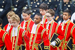 Remembrance Sunday at the Cenotaph 2015: The 10 Children of the Chapel Royal on their way from the Foreign- and Commonwealth Office building onto Whitehall. Image #80, 08 November 2015 10:54 Whitehall, London, UK