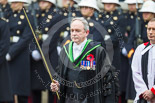 Remembrance Sunday at the Cenotaph 2015: The Serjeant of the Vestry, David Baldwin MVO RVM. Image #83, 08 November 2015 10:54 Whitehall, London, UK