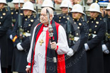Remembrance Sunday at the Cenotaph 2015: The Dean of HM Chapels Royal and the Lord Bishop of London, The Rt Revd. & the Rt Hon Dr Richard Chartres. Image #85, 08 November 2015 10:54 Whitehall, London, UK
