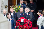 Remembrance Sunday at the Cenotaph 2015: The politicians leaving the Foreign- and Commonwealth Office, led by David Cameron, the Prime Minister, and Jeremy Corbyn as leader of the opposition. Image #87, 08 November 2015 10:55 Whitehall, London, UK