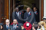 Remembrance Sunday at the Cenotaph 2015: The High Commissioners or their representatives leaving the Foreign- and Commonwealth Office. Image #99, 08 November 2015 10:56 Whitehall, London, UK