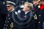 Remembrance Sunday at the Cenotaph 2015: HM The King of the Netherlands, Willem-Alexander, standing next to HM The Duke of Edinburgh at the Cenotaph on Remembrance Sunday 2015. Image #139, 08 November 2015 10:59 Whitehall, London, UK