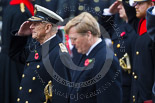 Remembrance Sunday at the Cenotaph 2015: HM The Duke of Edinburgh,saluting, next to  HM The King of the Netherlands, Willem-Alexander, at the Cenotaph on Remembrance Sunday 2015. Image #141, 08 November 2015 10:59 Whitehall, London, UK