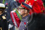 Remembrance Sunday at the Cenotaph 2015: HRH The Duke of Kent (Prince Edward), in the uniform of a Field Marshall of the British Army, standing at the Cenotaph. Image #144, 08 November 2015 10:59 Whitehall, London, UK