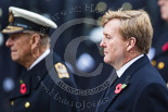 Remembrance Sunday at the Cenotaph 2015: HM The King of the Netherlands, Willem-Alexander, standing next to HM The Duke of Edinburgh at the Cenotaph on Remembrance Sunday 2015. Image #147, 08 November 2015 10:59 Whitehall, London, UK