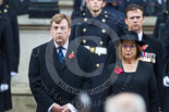 Remembrance Sunday at the Cenotaph 2015: The Secretary of State for Culture, Media and Sport, The Rt Hon John Whittingdale MP, and The Lord Speaker, Baroness D'Souza. Image #149, 08 November 2015 11:02 Whitehall, London, UK