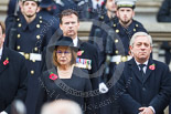 Remembrance Sunday at the Cenotaph 2015: The Lord Speaker, Baroness D'Souza, and The Speaker of the House of Commons, the Rt. Hon John Bercow MP. Image #150, 08 November 2015 11:02 Whitehall, London, UK