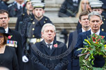Remembrance Sunday at the Cenotaph 2015: The Speaker of the House of Commons, Rt. Hon John Bercow MP, and The Secretary of State for Foreign and Commonwealth Affairs, the Rt Hon Philip Hammond MP. Image #151, 08 November 2015 11:02 Whitehall, London, UK