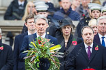 Remembrance Sunday at the Cenotaph 2015: The Secretary of State for Foreign and Commonwealth Affairs, the Rt Hon Philip Hammond MP, the Rt Hon Nigel Dodds MP. Image #152, 08 November 2015 11:02 Whitehall, London, UK