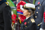 Remembrance Sunday at the Cenotaph 2015: HRH The Princess Royal, wearin the uniform of an Admiral in the Royal Navy. Image #160, 08 November 2015 11:03 Whitehall, London, UK