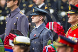 Remembrance Sunday at the Cenotaph 2015: Wing Commander Sam Fletcher, RAF, Equerry to HM The Queen. Image #163, 08 November 2015 11:03 Whitehall, London, UK