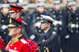Remembrance Sunday at the Cenotaph 2015: Lieutenant  Commander  James  Benbow, Royal Navy, equerry to Prince William. Image #167, 08 November 2015 11:03 Whitehall, London, UK