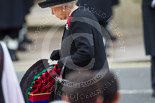 Remembrance Sunday at the Cenotaph 2015: HM The Queen walking toward the Cenotaph with her wreath. Image #174, 08 November 2015 11:03 Whitehall, London, UK