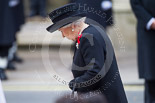 Remembrance Sunday at the Cenotaph 2015: HM The Queen at the Cenotaph after laying her wreath. Image #179, 08 November 2015 11:04 Whitehall, London, UK